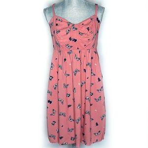 Torrid Dress A-Line Spaghetti Strap Butterflies